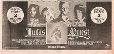 JUDAS PRIEST Hero,Hero 1981 UK Press ADVERT 12x4 inches