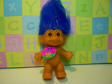 "GOOD LUCK / BINGO SPARKLE TROLL - 3"" Russ Troll Doll - NEW - Blue Hair"