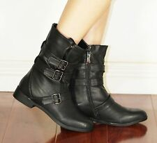 ketisa-2 New Fashion Ankle Zipper Buckle Casual Winter Women Boots Black 7