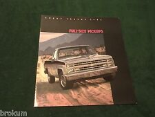 MINT 1985 CHEVROLET CHEVY FULL-SIZE PICKUP 16 PAGE SALES BROCHURE (BOX 552)