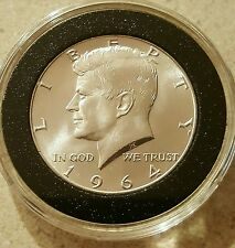 Uncirculated 1964-D 50c Kennedy Half Dollar in Air-Tite 90% Silver Bu Condition!