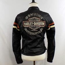 Harley Davidson Miss Enthusiast Leather Motorcycle Jacket Womens XS 3-in-1 Black