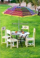 10 Big Garden Indian Parasol Umbrella Outdoor Patios Hand Embroidery Rajasthani