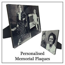 Memorial Plaque, Personalised Acrylic Photo with Stand, Keepsake Gift, Any image