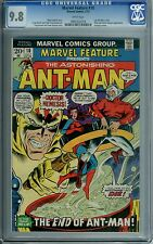 MARVEL FEATURE #10 CGC 9.8 WHITE PAGES LAST ANT-MAN RARE COPY FEW IN HIGH GRADE