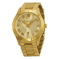 Michael Kors Layton Pave-Embellished With an Engraved Map Watch MK5959