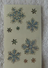 Mrs Grossman ICY SNOWFLAKES Half Strip Reflections Sparkle Snowflake Stickers