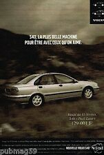 Publicité advertising 1997 Volvo S40 Pack Luxe