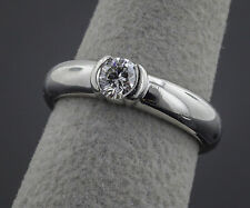 Tiffany & Co , 8.70 g Platinum, .38ct Etoile Solitaire Diamond Engaement Ring