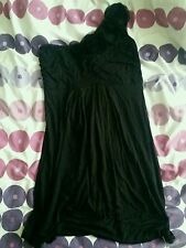 girl black one shoulder formal dress flowers size 10/12 party wedding from b.b.c