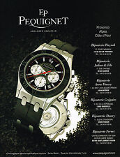 PUBLICITE ADVERTISING 045  2005  EP PEQUIGNET collect montre CHRONOGRAPHE MOREA
