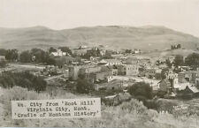 Virginia City MT * View from Boot Hill RPPC ca. 1950s * Sinclair