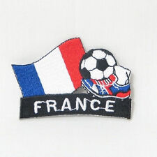 FRANCE SOCCER FOOTBALL KICK COUNTRY FLAG EMBROIDERED IRON-ON PATCH CREST BADGE