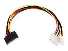 "12inch SATA 15pin Male to 4pin Molex and 4pin Power Cable 12"" 1FT 1 FT"