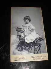 Cdv photograph girl by Gober at Simbach Germany 1900s Rf 507(19)