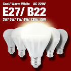 Energy Saving B22 E27 LED Bulb Light Lamp 3W 5W 7W 9W 12W 15W Cool Warm White