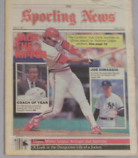 1987 Sporting News Jack Clark St Louis Cardinals Joe DiMaggio