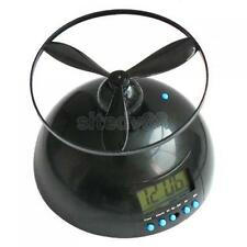 Black ALARM CLOCK Loud Crazy Annoying FLYING Helicopter