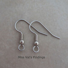 50 surgical steel fishook hook ear wires earrings 20mm 21 gauge ball coil