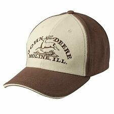 John Deere Farmer Brown & Beige Baseball Hat Cap