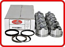 76-86 Chevrolet/GM SBC 305 5.0L OHV V8  (8)Dish-Top Pistons & Moly Rings
