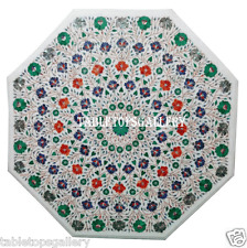 """30"""" Marble Center Coffee Table Top Malachite Multi Floral Mosaic Home Deco H974A"""