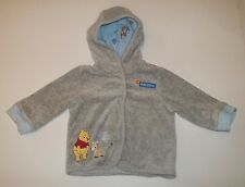 Disney Jacket 3-6 Months Baby Boy Winnie the Pooh Long Sleeve Hooded Gray Blue