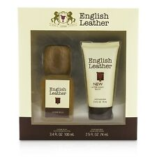 Dana English Leather Coffret: Cologne Splash 100ml/3.4oz + After Shave Balm 2pcs