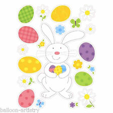 21 Easter Bunny Eggs Window Glass Stickers Clings Set Decorations