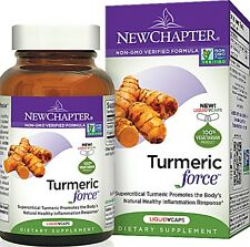 New Chapter TUMERIC FORCE 120 LiquidVCaps NonGMO Organic Inflammation Support