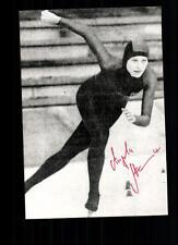 Angela Stahke Autogrammkarte Original Signiert Eisschnellauf +A 104501