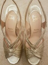Christian louboutin ladies gold shoes 8/41