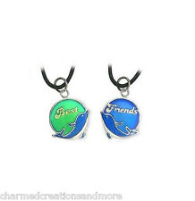 Best Friends 2 BFF Mood Color Changing Dolphin Necklaces Set With Color Meaning