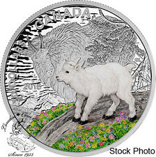 Canada 2015 $20 Baby Animals: Mountain Goat Silver Coin and Stamp Set