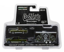 "Hitch & Tow: 2015 Ford F-150 and 68 Shelby with Hauler ""Gas Monkey"" 1/64 Scale"