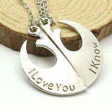 2pc Chic Star Wars Rebel Insignia Love couples Pendant Necklace Friends Gift Hot
