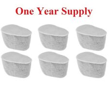 Charcoal Water Filters for Krups Coffeemakers, Set of 6 (One Year Supply) F47200