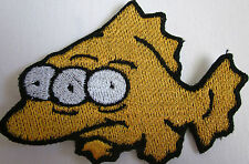 3 Eyed Fish Nuclear waste Simpson Style Iron on PatchFREE NORTH AMERICA SHIPPING