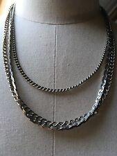 Collana vintage tono oro/Multi Strand/Serpente Catena?/Retrò/anni'80/kitsch/20'