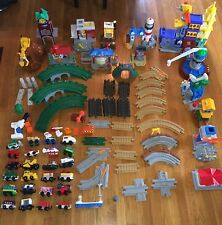 GIANT Lot GEO TRAX Fisher-Price Playset Trains, Tracks, Buildings and More.