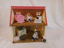 Calico Critters Cozy Cottage Starter Home Red Roofed 2 Story Kids + Critters +