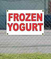 2x3 FROZEN YOGURT Red & White Banner Sign NEW Discount Size & Price FREE SHIP