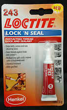 New Loctite 243 Lock 'n' Seal Thread & Sealant Fast Acting Secure Nut / Bolt 3ml