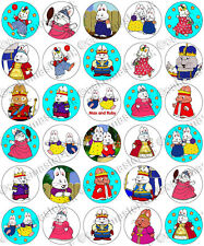 30 x Max and Ruby Party Collection Edible Rice Wafer Paper Cupcake Toppers