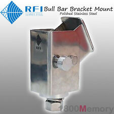 RFI Folding Bull Bar Antenna Bracket Mount Polished for CD7195 CD2197 CD2199