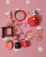 Lote De Fresa Apple Rement Blythe Pullip Barbie Sindy miniaturas Pyrex
