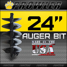 "24"" Auger Bit w/ Round Collar For Skid Steer Loaders 4' Length  - 24 Inch"