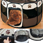Foldable Fence Exercise Pen Cage Pet Dog Cat Playpen Kennel Oxford Tent Crate