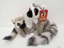 RAVENSDEN SUMA COLLECTION 16cm RING TAILED LEMUR + BABY SOFT TOYS