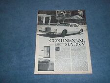 1977 Lincoln Continental Mark V Vintage Road Test Info Article